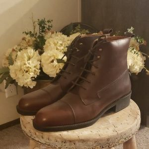 Eddie Bauer Italian ankle boots leather 9 W